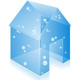 Vector glass home icon. Royalty Free Stock Photography