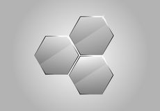 Vector glass honeycombs Stock Image
