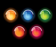 Free Vector Glass Shone Buttons Royalty Free Stock Image - 5609126