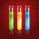 Vector glass test tubes Stock Photography