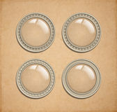 Vector glass transparent buttons Royalty Free Stock Photo