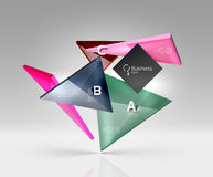 Vector glass triangles composition on grey 3d background. Abstract background for workflow layout, diagram, number options or web design vector illustration