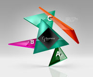 Vector glass triangles composition on grey 3d background. Abstract background for workflow layout, diagram, number options or web design Royalty Free Stock Photography