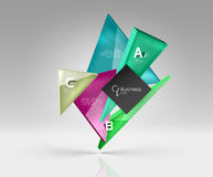 Vector glass triangles composition on grey 3d background. Abstract background for workflow layout, diagram, number options or web design Royalty Free Stock Images