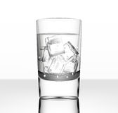 Vector glass of water with ice Stock Images