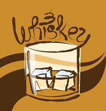 Vector Glass of Whiskey Royalty Free Stock Image