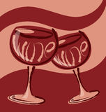Vector Glass of Wine Royalty Free Stock Photo