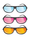 Vector glasses. In different colors Royalty Free Stock Images
