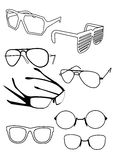 Vector glasses. Number of different eye-ware Royalty Free Stock Photos
