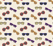 Vector glasses frame seamless pattern background Royalty Free Stock Photos