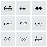 Vector glasses icon set Stock Photo