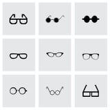 Vector glasses icon set Stock Photo