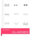 Vector glasses icon set Royalty Free Stock Photography