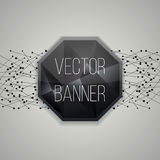 Vector glassy Hexagon button, banner. Graphic design Can be used for website and promotion. Vector Royalty Free Stock Images