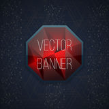 Vector glassy Hexagon button, banner. Graphic design Can be used for website and promotion. Vector Stock Images