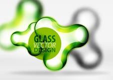 Vector gli effetti di vetro e metallici digitali della bolla dello spazio 3d, Fotografia Stock Libera da Diritti