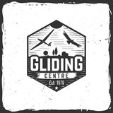 Vector Gliding club retro badge. Royalty Free Stock Image