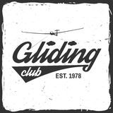 Vector Gliding club retro badge. Royalty Free Stock Photography