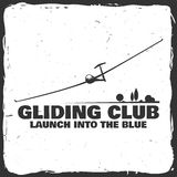 Vector Gliding club retro badge. Stock Photos