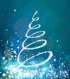 Vector  glitter Christmas tree. Stock Photo