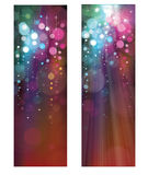 Vector glitter colorful banners. Royalty Free Stock Photography