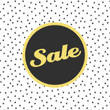 Vector glitter sale template with triangle pattern Royalty Free Stock Image