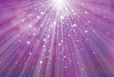 Vector glitter violet background with rays of ligh Stock Photo