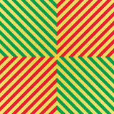 Vector glittering seamless pattern with gold, red and green stripes. Chevron background. Royalty Free Stock Photos