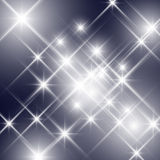 Vector glittering sparkling stars Stock Photography