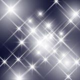 Vector glittering sparkling stars Stock Photography
