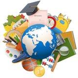 Vector Globaal Onderwijsconcept Stock Foto
