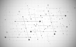 Vector global creative social network. Abstract polygonal background with lines and dots. Vector global creative social network. Abstract polygonal background royalty free illustration