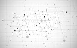 Vector global creative social network. Abstract polygonal background with lines and dots. Vector global creative social network. Abstract polygonal background Stock Image