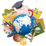Vector Global Education Concept Stock Photo