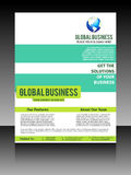 Vector global flyer Stock Photography