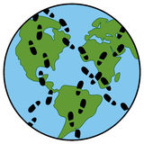 vector global footprint on earth's ecology Royalty Free Stock Images