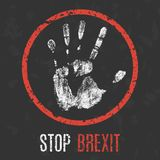Vector. Global problems of humanity. Stop brexit. Royalty Free Stock Images