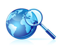 Vector global search icon Royalty Free Stock Photos
