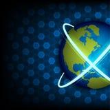 Vector global telecommunication Stock Photos