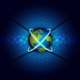 Vector global telecommunication Royalty Free Stock Photo