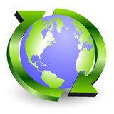 Vector globe Stock Images