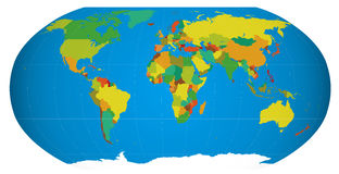 Vector globe. Eps  world map divided into countries Stock Photography