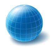 Vector globe. Vector icon of blue globe Royalty Free Stock Image