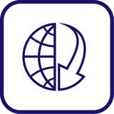 Vector globe and array icon. Simply change Royalty Free Stock Image