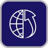 Vector globe and array icon Royalty Free Stock Photography