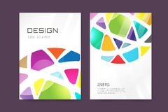 Vector globe brochure template. Abstract arrow Stock Images