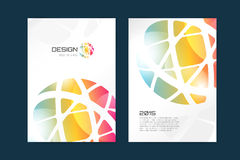 Vector globe brochure template. Abstract arrow Stock Photo