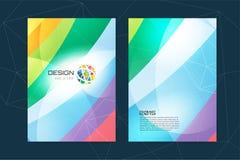 Vector globe brochure template. Abstract arrow Royalty Free Stock Photo