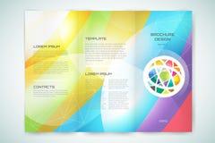Vector globe brochure template. Abstract arrow Royalty Free Stock Photography