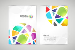 Vector globe brochure template. Abstract circle. Design and creative identity idea, blank, paper, ad, blank, book, business card. Stock illustration Stock Image
